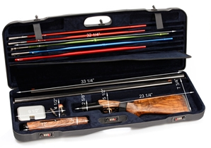 "Negrini 1652 Tube Set Series -- 2 Barrels up to 33.5"" High Rib Negrini, hard sided gun case, airline approved gun case, shotgun case, Krieghoff"