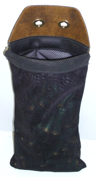 Shamrock Leathers Full Mesh Hull Pouch for Turn Lock adapter Leather and mesh hull pouch, shotgun shell bag
