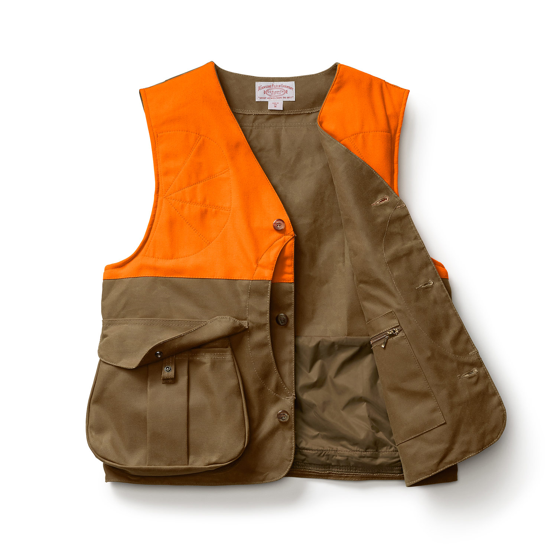 9de49fa210421 Filson - Filson Tin Cloth Upland Hunting Vest Frontloader #FIL-10375-BT