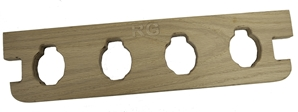 Rugged Gear 4 Gun Wooden Pistol Holder
