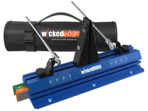 Wicked Edge Go, Deluxe Knife Sharpener wicked edge, knife, sharpener, sharpening system, go,deluxe, kit, made in USA