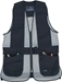 Wild Hare Primer Mesh Vest, Black/Silver - Ambidextrous Shooting Pad - WH-421-BS-L