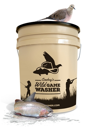 Cowboys Wild Game Washer -- 5 Gallon game washer, bucket washer, bird washer, fish washer, remove feathers, remove scales