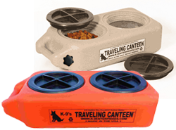 K-9 Traveling Canteen with Handle Drain K 9 Canteen, dog food and water storage system